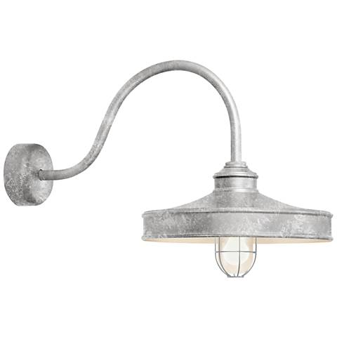 "Nostalgia 18"" High Galvanized Outdoor Wall Light"