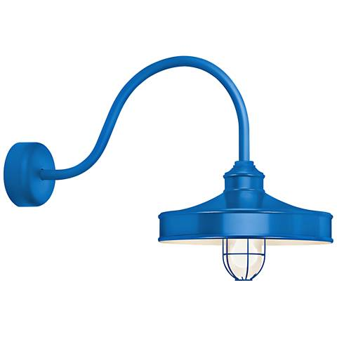 "Nostalgia 18"" High Blue Outdoor Wall Light"
