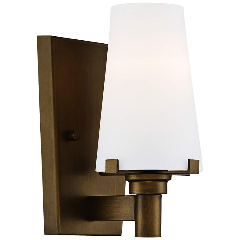 """Hyde Park 8 1/2"""" High Vintage Gold Wall Sconce"""