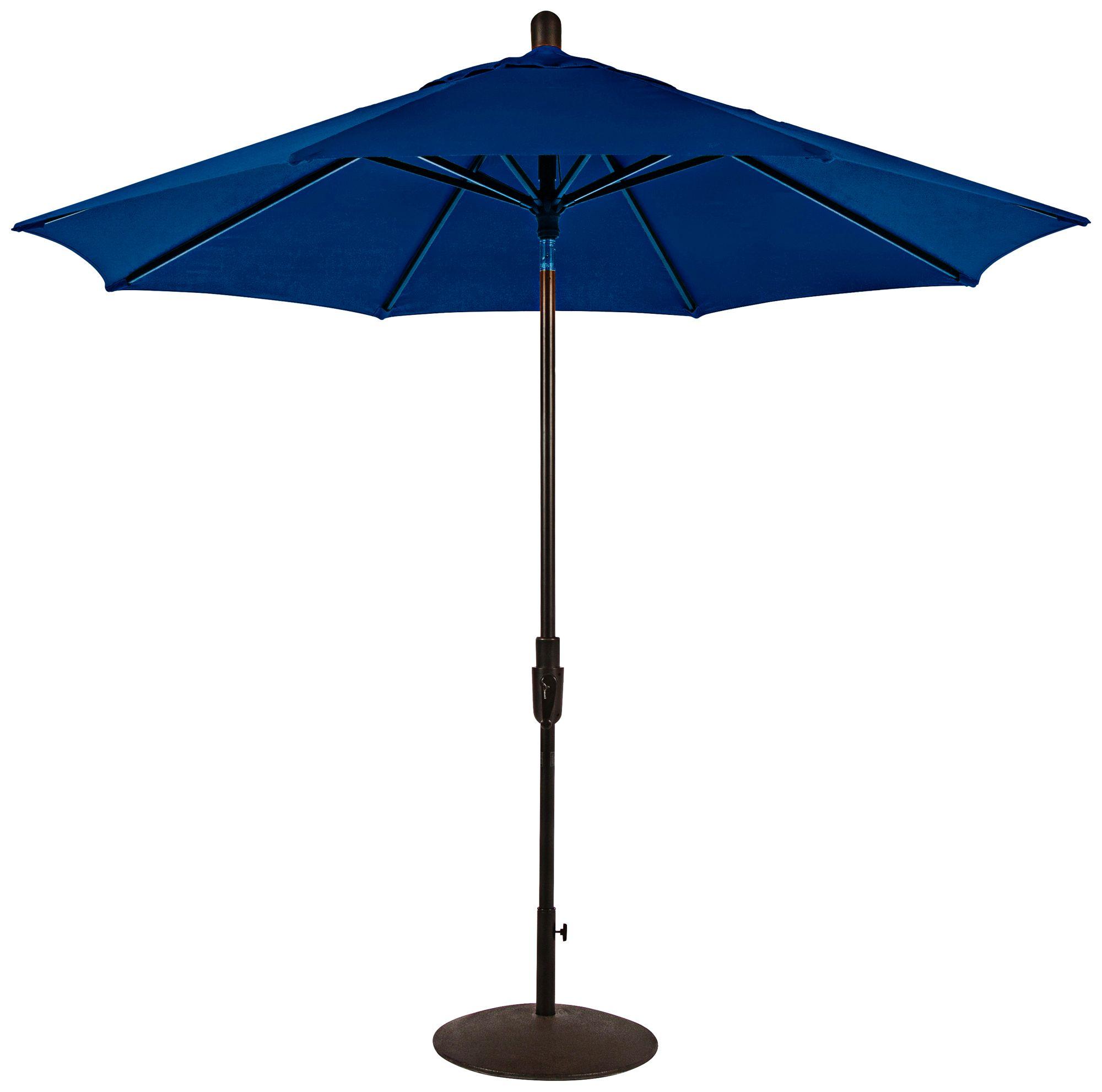 Bon Zuma Shore 8 3/4 Foot Pacific Blue Sunbrella Patio Umbrella
