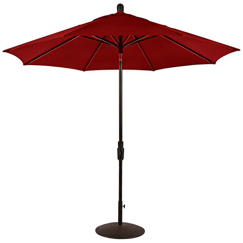Zuma Shore 8 3/4-Foot Jockey Red Sunbrella Patio Umbrella