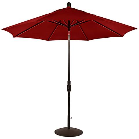Zuma Shore 8 3/4-Foot Jockey Red Sunbrella Patio Umbrella
