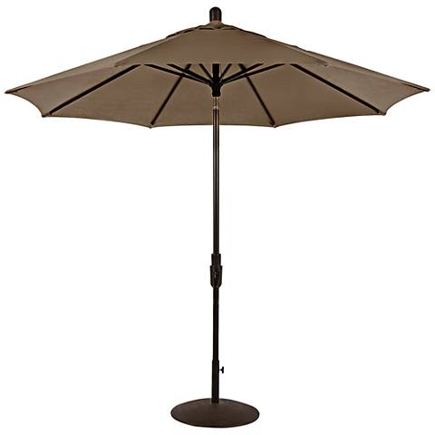Zuma Shore 8 3/4-Foot Taupe Sunbrella Patio Umbrella