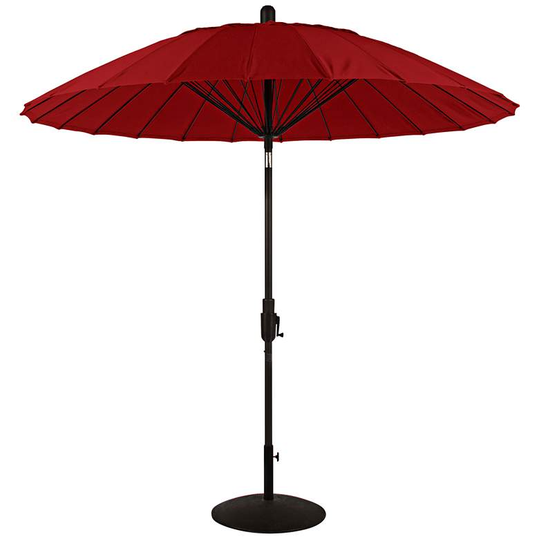 Balboa Breeze 8 1/4-Foot Jockey Red Sunbrella Patio