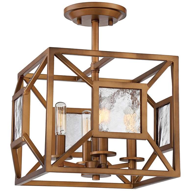 "Athina 14"" Wide Gilded Bronze 4-Light Ceiling Light"