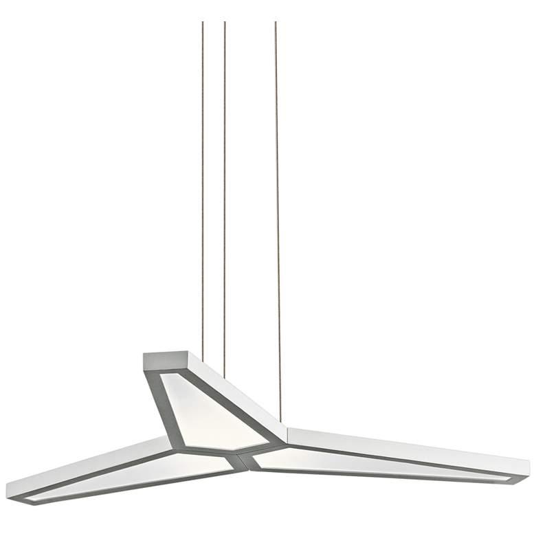 "Elan Viva 29"" Wide Matte White Finish 3-LED Pendant Light"