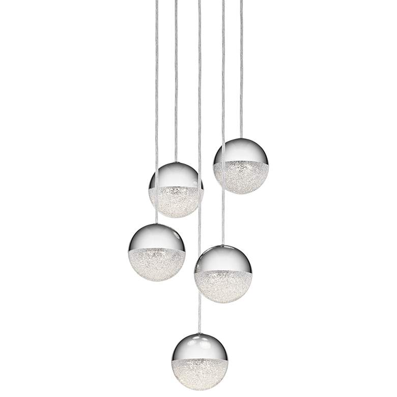 "Elan Moonlit 13"" Wide Chrome LED Multi Light"