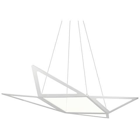 """Elan Starship 43 1/2"""" Wide Matt White LED Pendant Light"""