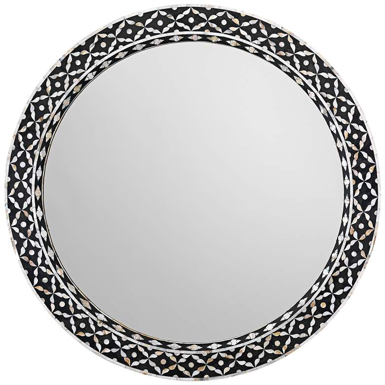 """Jamie Young Evelyn Mother of Pearl 36"""" Round"""