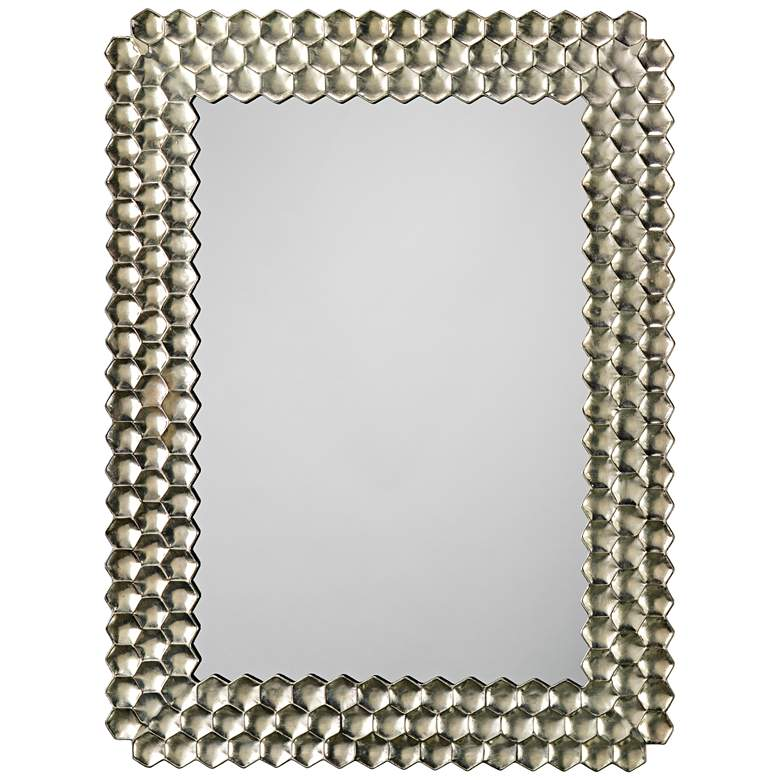 """Jamie Young Honeycomb Champagne 29 1/2"""" x 39 1/4"""" Mirror"""