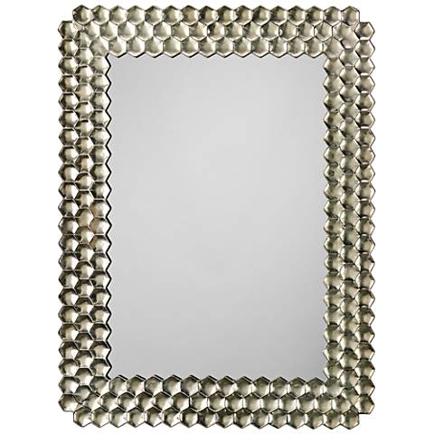 "Jamie Young Honeycomb Champagne 29 1/2"" x 39 1/4"" Mirror"