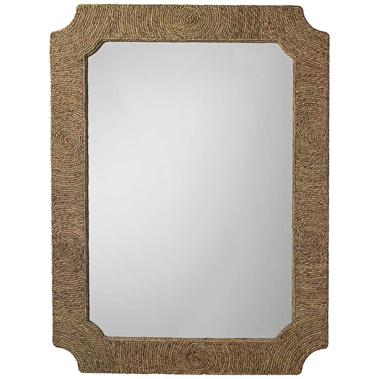 "Jamie Young Marina Seagrass 36"" x 48"" Wall Mirror"