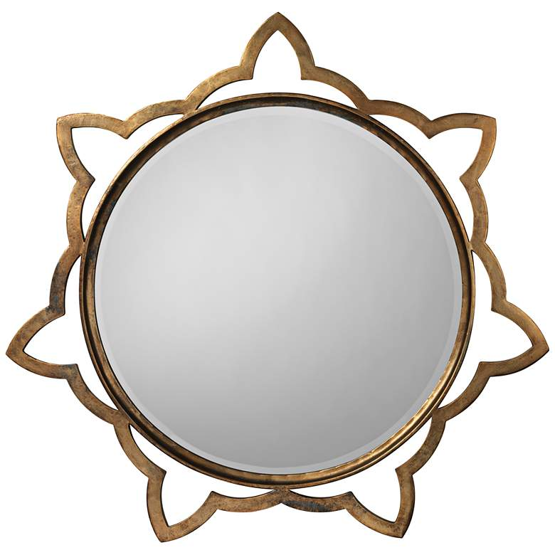 """Jamie Young Sante Antique Brass 36"""" Round Wall"""