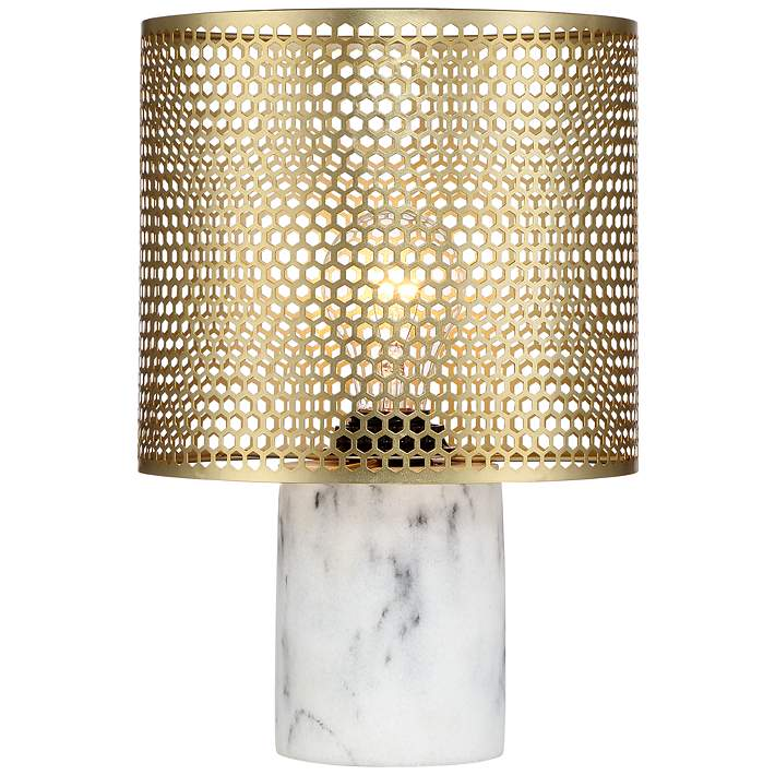 Elijah Brass And White 11 1 2 High Accent Table Lamp 19t99 Lamps Plus