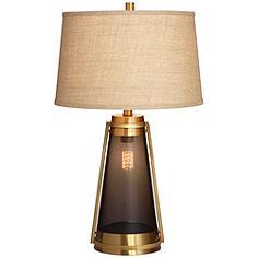 Millard Brass LED Night Light Table Lamp