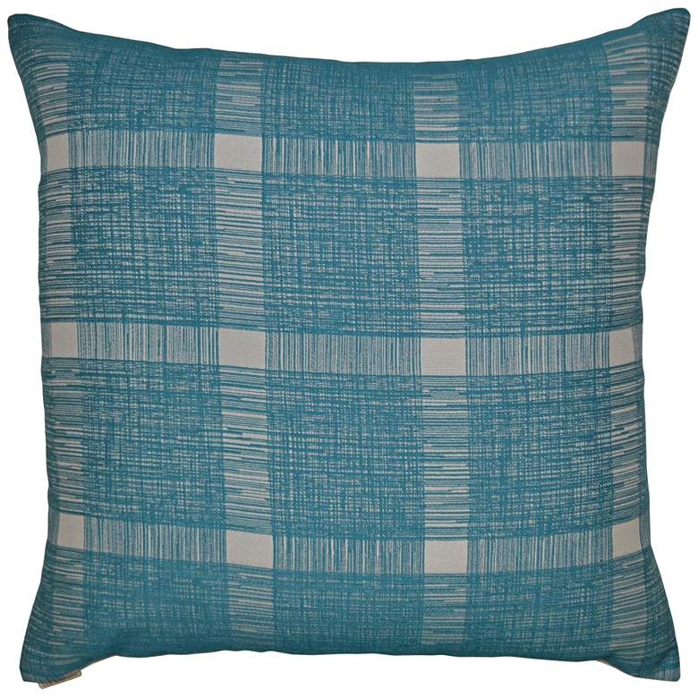 """Checkmate Turquoise 22"""" Square Decorative Throw Pillow"""