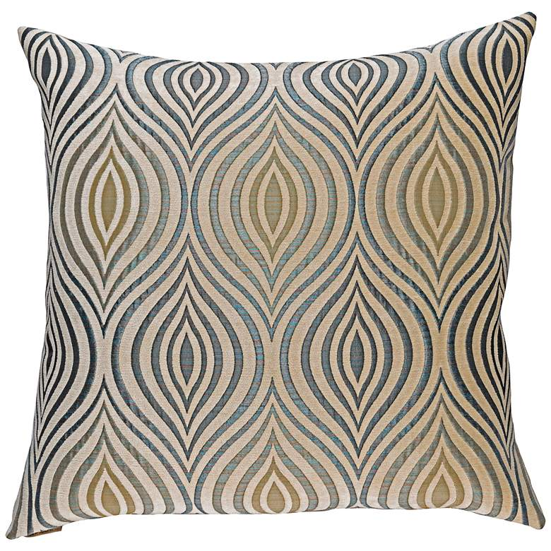 "Koza Sapphire 20"" Square Decorative Throw Pillow"