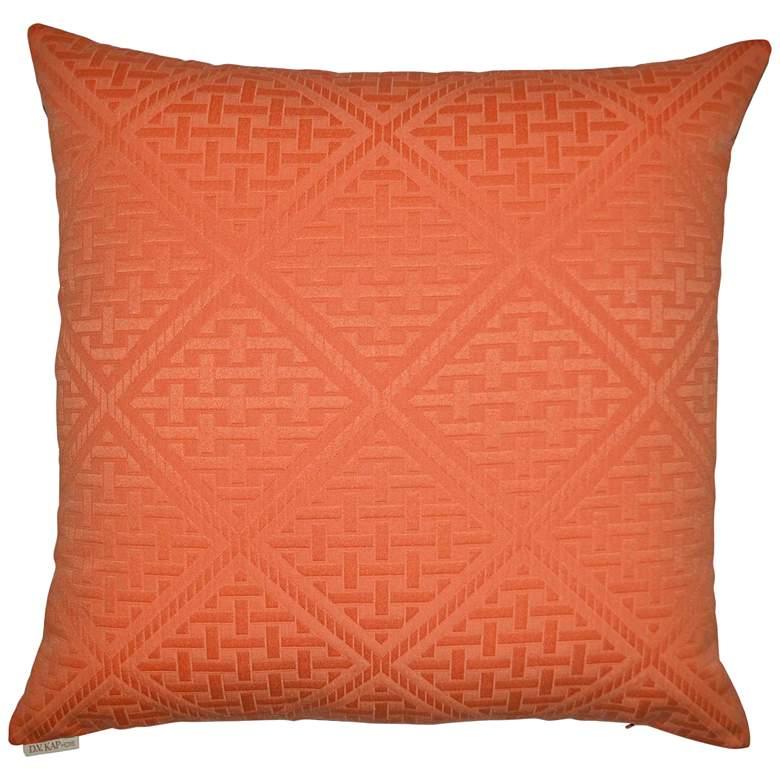 "Orange Paragon 22"" Square Indoor-Outdoor Throw Pillow"