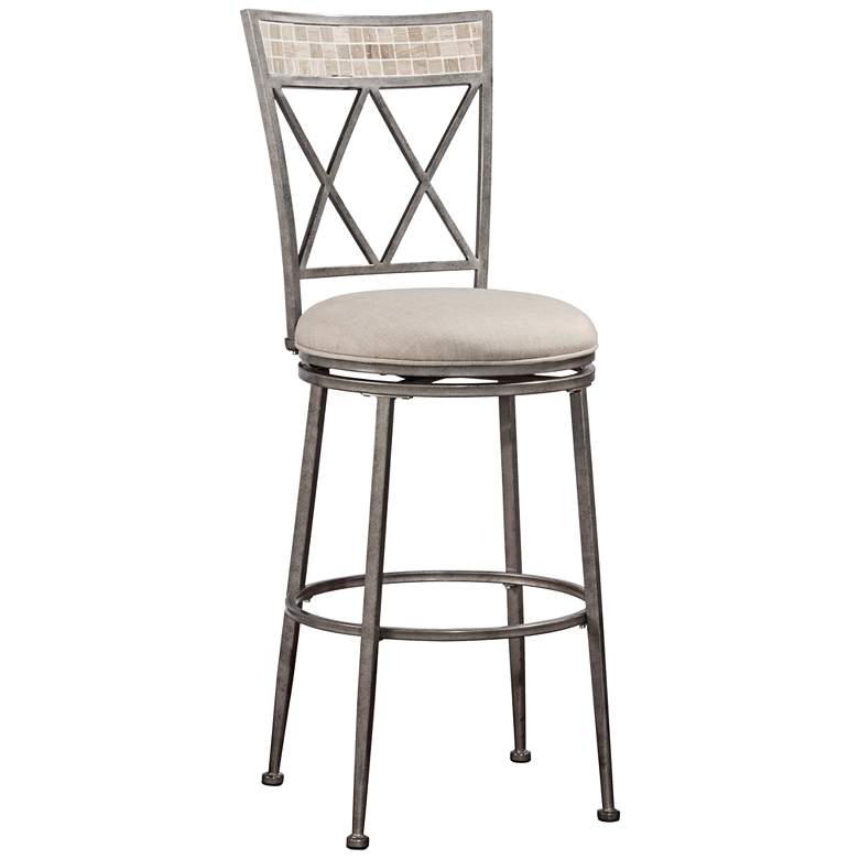 Pleasing Hillsdale Milestone Silver Swivel Outdoor Counter Stool Alphanode Cool Chair Designs And Ideas Alphanodeonline