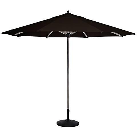 Coronado Sands 8 3/4-Foot Black Sunbrella Patio Umbrella