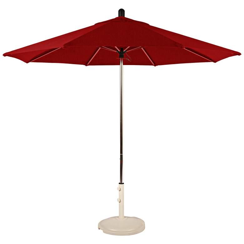 Santa Barbara 8 3/4-Foot Jockey Red Sunbrella Patio