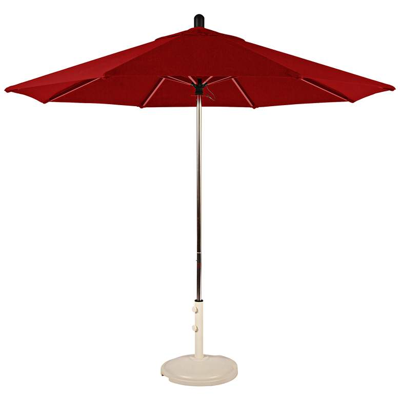 Santa Barbara 8 3/4-Foot Jockey Red Sunbrella Patio Umbrella
