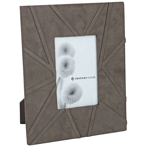 Las Cruces Gray Suede 11x9 Photo Frame