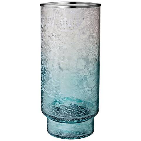 Ombre Glacier Large Blue Hurricane Pillar Candleholder