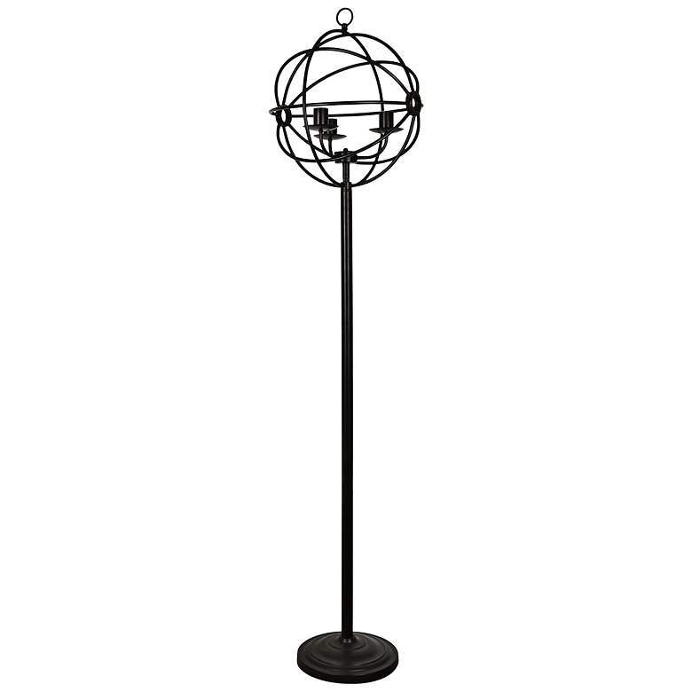 Crestview Collection Global Oil Bronze Metal Floor Lamp