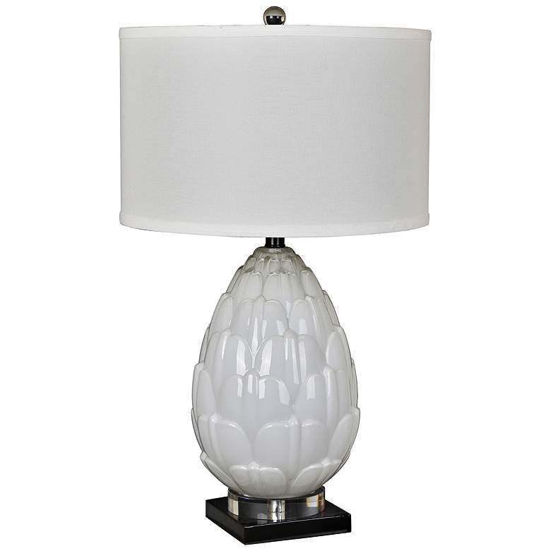 Crestview Collection Artichoke White Glass Table Lamp