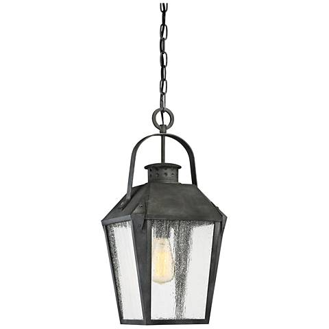 """Quoizel Carriage 21 1/4"""" High Black Outdoor Hanging Light"""