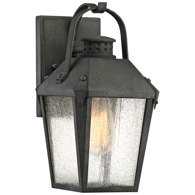 "Quoizel Carriage 11 1/2""H Mottled Black Outdoor Wall Light"