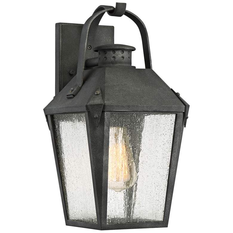 """Quoizel Carriage 15"""" High Mottled Black Outdoor Wall Light"""