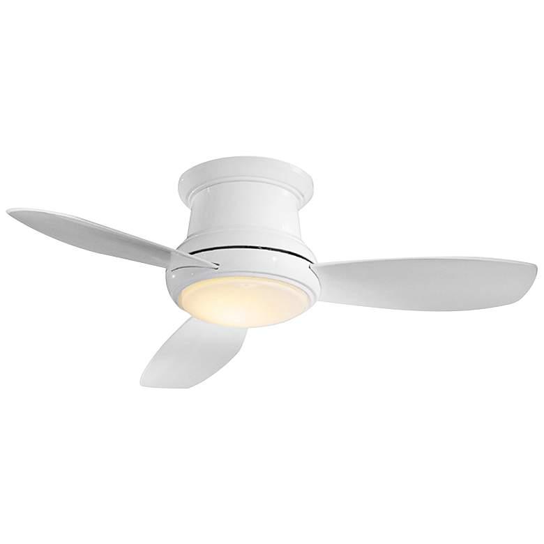 "52"" Concept II White Flushmount LED Ceiling Fan"