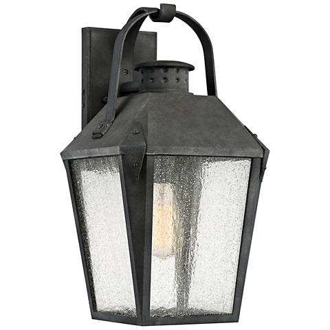 "Quoizel Carriage 19"" High Mottled Black Outdoor Wall Light"