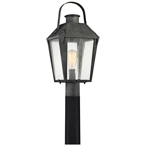 "Quoizel Carriage 21 3/4""H Mottled Black Outdoor Post Light"