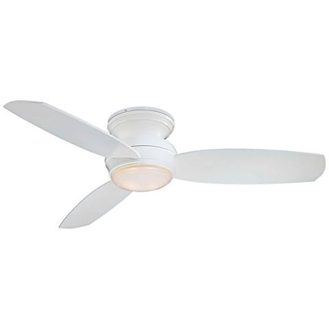 "44"" Traditional Concept White Flushmount LED Ceiling Fan"