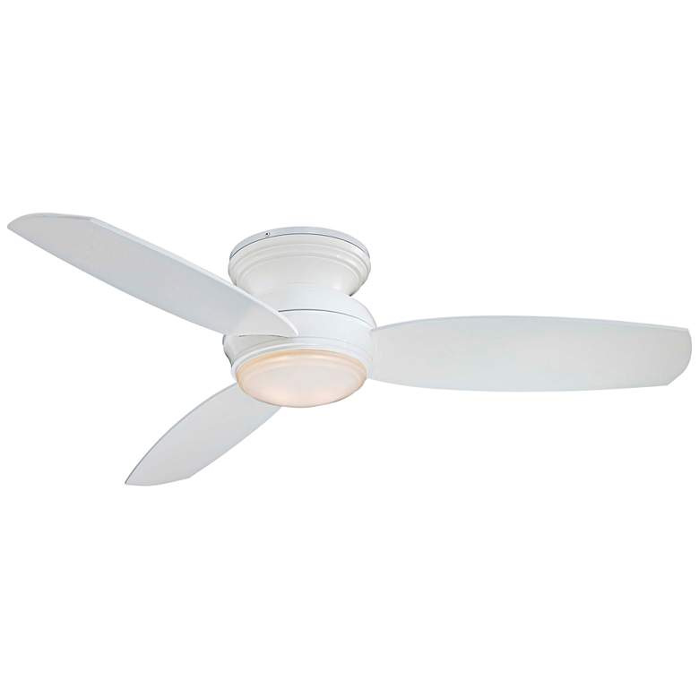 """52"""" Traditional Concept White Flushmount LED Ceiling Fan"""