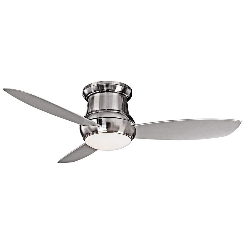 "52"" Concept II Brushed Nickel Wet Flushmount LED Ceiling Fan"