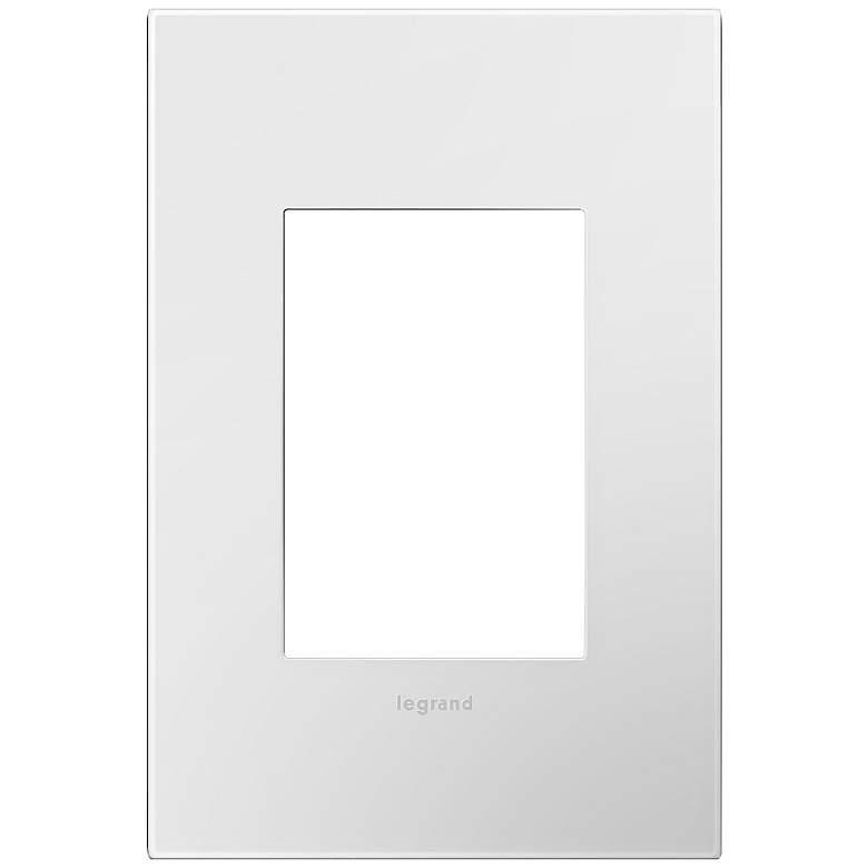 adorne Gloss White-on-White 1-Gang 3-Module Wall Plate