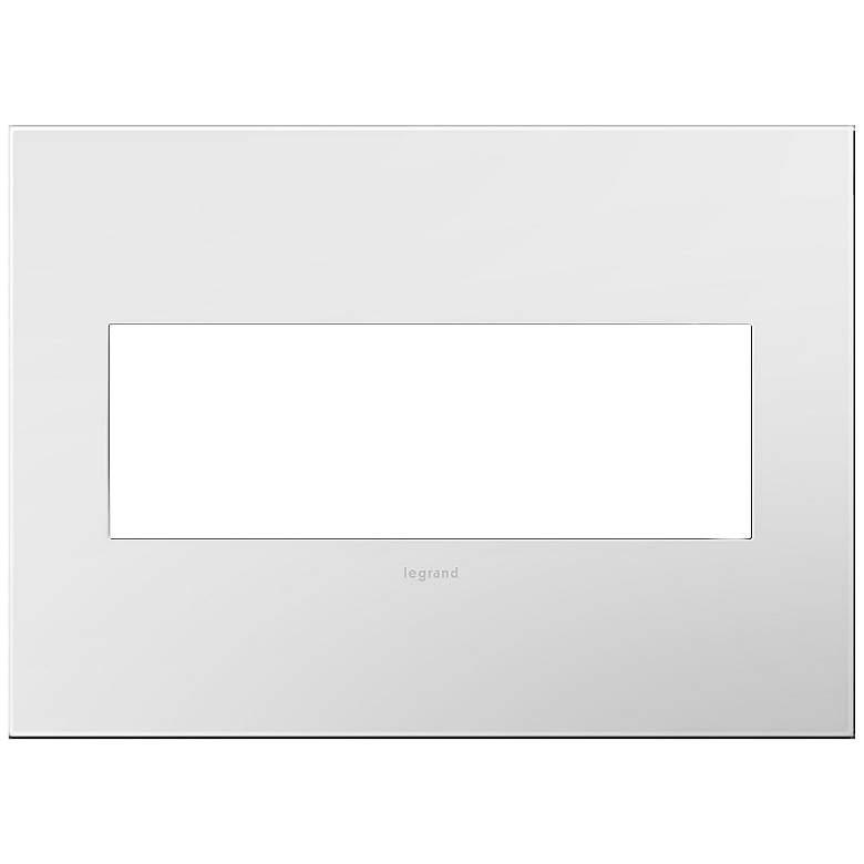 adorne Gloss White-on-White w/ White Back 3-Gang Wall