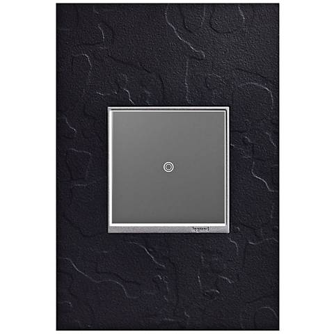 adorne Hubbardton Forge Black 1-Gang Wall Plate w/ sofTap Switch
