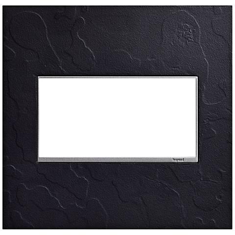 Hubbardton Forge Black 2-Gang Wall Plate