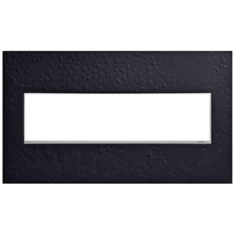 Hubbardton Forge Black 4-Gang Wall Plate