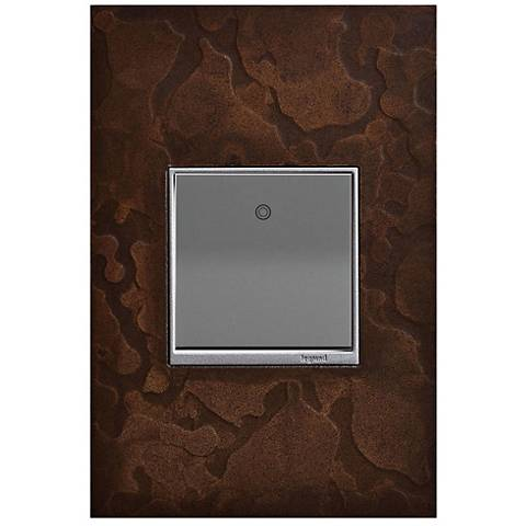adorne Hubbardton Forge Bronze 1-Gang Wall Plate w/ Paddle Switch