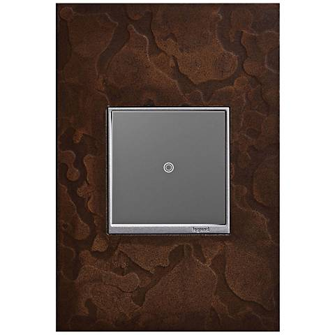 adorne Hubbardton Forge Bronze 1-Gang Wall Plate w/ sofTap Switch