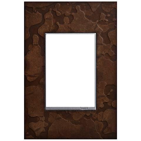 Hubbardton Forge Bronze 1-Gang 3-Module Wall Plate