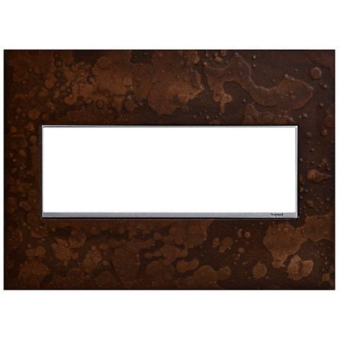Hubbardton Forge Bronze 3-Gang Wall Plate