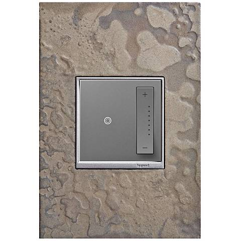 adorne Burnished Steel 1-Gang Wall Plate w/ sofTap Dimmer