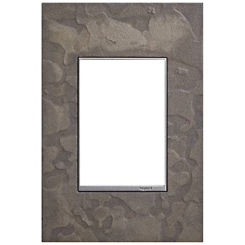 Hubbardton Forge Burnished Steel 1-Gang 3-Module Wall Plate